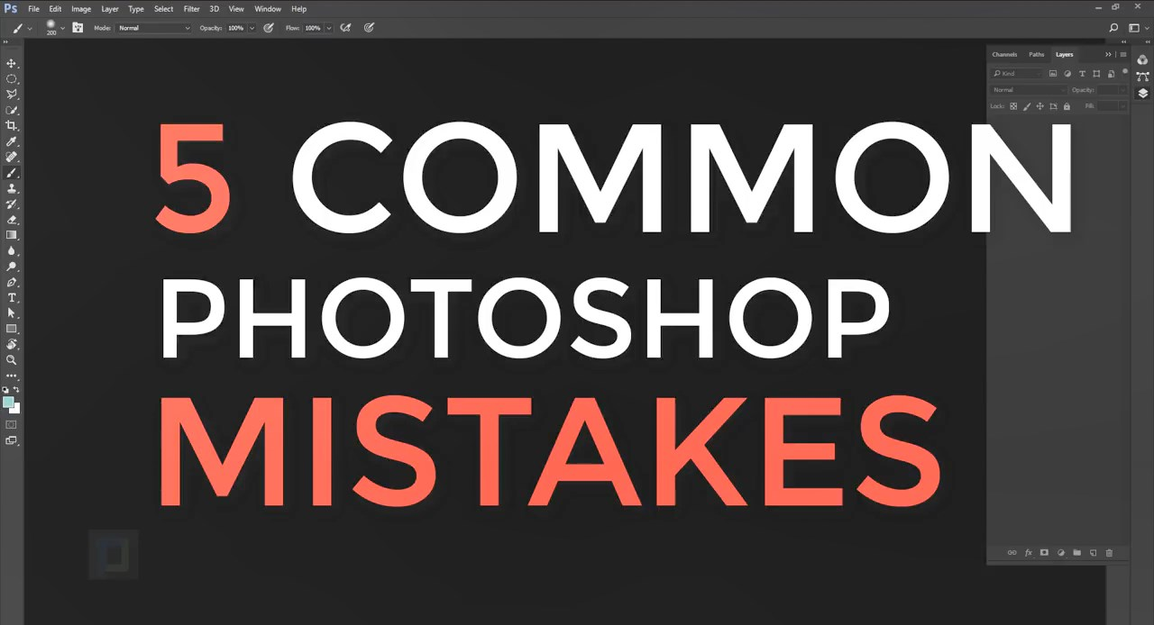 5 Common PHOTOSHOP CC MISTAKES