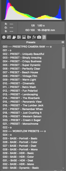 How To Install Adobe Camera RAW Presets for MAC & PC