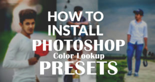 How to install color lookup presets in photoshop for mac and windows pc