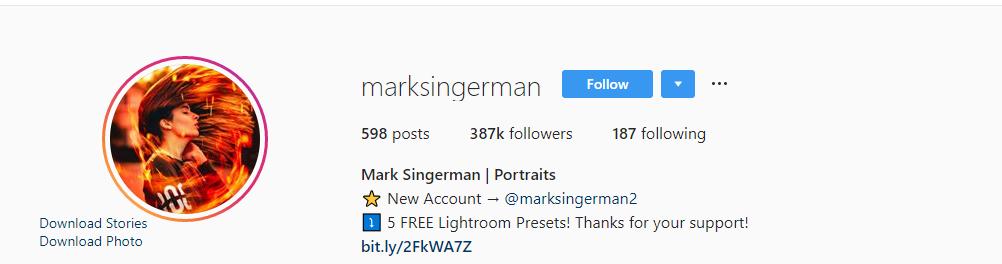 Mark SingerMan Photoshop Camera Raw Presets Collection