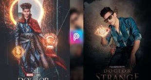 PicsArt Marvel Doctor Strange movie Poster editing || PicsArt SuperHero editing
