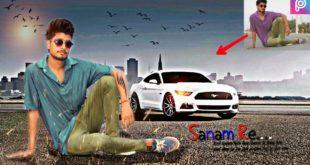 PicsArt editing tutorial background change || picsart hindi || urdu || picsart car editing ||