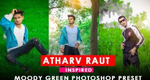 Atharv raut Moody green photoshop camera raw preset for FREE