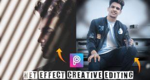 PicsArt Creative Photo Editing | Net effect Illusion Photo editing in PicsArt step by step in hindi