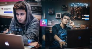 INSTABOY - Viral instagram Concept editing in PicsArt and lightroom || Instagram overlay Editing