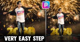Happy New Year 2020 Special Photo Editing From PicsArt and Lightroom in Hindi
